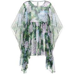 Dolce & Gabbana Printed Silk Kaftan (59,070 DOP) ❤ liked on Polyvore featuring tops, tunics, multicoloured, colorful tunics, silk kaftan, caftan tunic, colorful tops and kaftan tops