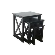 Home Decorators Collection Brexley Black Nesting Tables (Set of 3) AN-XNT-2A-B at The Home Depot