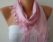 Pink -- SALE Scarf (13.50 USD) -- Free Scarf on ETSY