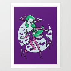 The Vampire Queen Art Print by MeleeNinja - $14.56