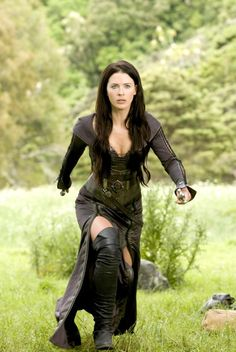 Kahlen Amnell's over the knee boots and waist length locks in Legend of the Seeker
