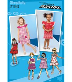 5a06479feeeee Simplicity Pattern 2193BB 4 - 5 - 6 - 7 - 8 - Simplicity Toddlers Plus