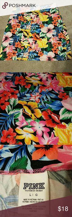 Junior tropical flower print mini skirt Tropical flower print skirt. New never used without tags. PINK Victoria's Secret Skirts Mini