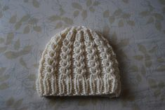 Mock cable hat. Love mock cables! All of the beauty of cables without the extra needle.