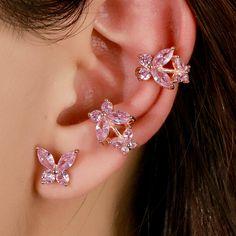 Jewelry Design Earrings, Ear Jewelry, Cute Jewelry, Jewelery, Jewelry Accessories, Fancy Jewellery, Stylish Jewelry, Fashion Jewelry, Pretty Ear Piercings