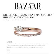 """357 Likes, 11 Comments - KATKIM (@_katkim) on Instagram: """"Thank you @harpersbazaarus for including 'The Marquise Sunset Ring' 💖 Special thank you to…"""""""