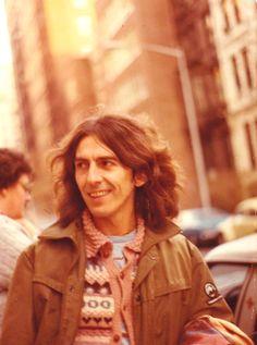 George Harrison, New York, 1970's Taken from Reddit OldSchoolCool  7nPOJfc.jpg (1028×1382)