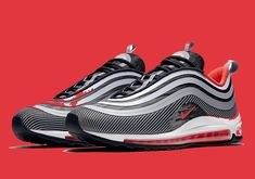 """The Nike Air Max 97 Ultra """"Red Orbit"""" Is Dropping Soon - Lifestyle news website covering streetwear, sneakers Air Max 97, Nike Air Max, New Release Shoes, Air Max Sneakers, Shoes Sneakers, Womens Fashion Sneakers, News Website, Trendy Shoes, Shoe Game"""