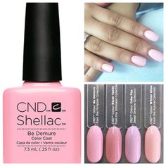 Cnd Shellac In Be Demure Love It Pink