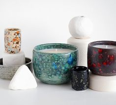 Oui Ceramic Soy Candles - would look great in my living room