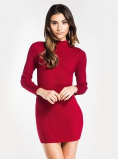 75cee658eb5 Red Ribbed Knitted Dress Ribbed knits are a must have this winter…