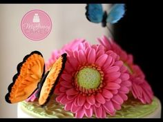 To Make a Gumpaste Gerber Daisy; A McGreevy Cakes Tutorial - YouTube