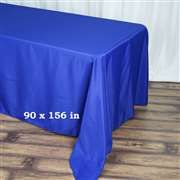 90 x 156 inch Royal Blue Polyester Rectangular Tablecloth Checkered Tablecloth, Blue Tablecloth, Tablecloths For Sale, Wedding Tablecloths, Wedding Linens, Banquet Tables, Party Tables