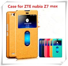 ZTE Nubia Z7 Max case ,colorful high quality flip  leather case for  ZTE Z7 Max case mobile phone cases bags with view window  $10.56