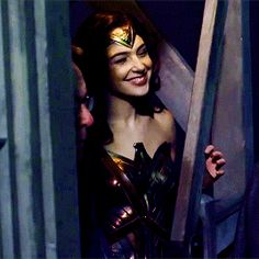 Gal Gadot on the set «Wonder Woman»