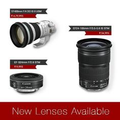 New #Canon #STM #Lenses Launched yesterday !!!Canon #India announces availability of 3 new lenses. The EF-S 24mm f/2.8 STM is the first, which is one of the lightest and most compact lenses in the world. http://www.imagestore.co.in/accessories/canon-lenses.html