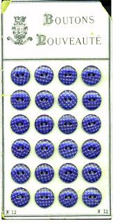Musings of a 19th Century Woman: Calico Buttons
