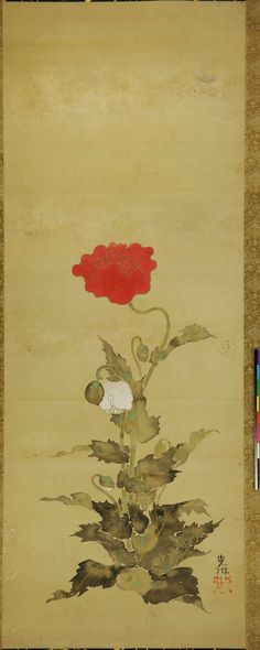 Ogata Korin. A Flower. Hanging scroll.