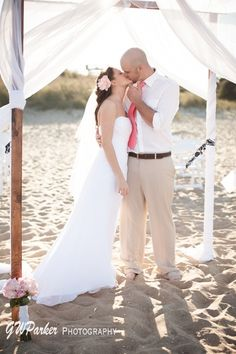 A Small And Intimate Wedding On The Beach Great Spot For Weddings Is In Sandbridge Virginia Little Island Park