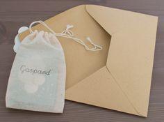 Faire part Gaspard Gaspard, Paper Shopping Bag, Announcement, Birth, Baby Boy, Invitations, Mini, Communion, Bb