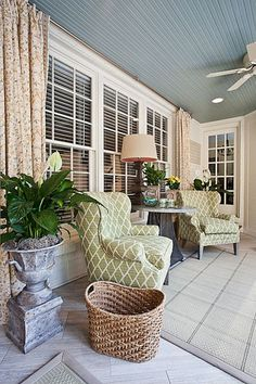 Contemporary, French, Screened Porch Doesn't work for our current home and porch but this is just GORGEOUS!
