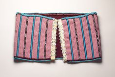 African Collection: Xhosa, Beaded girdle Beads, fabric, buttons, metal hook and eyes African Beads, African Art, Xhosa, Contemporary Artists, Beadwork, South Africa, Cape, Weaving, Old Things
