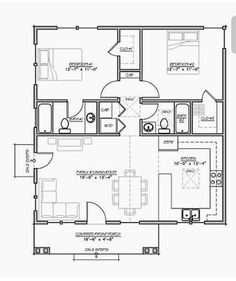 A+ Flip The Kitchen And Living Room. Very Economical Layout.