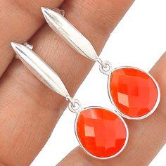 Carnelian 925 Sterling Silver Earring Jewelry EE15674 | eBay