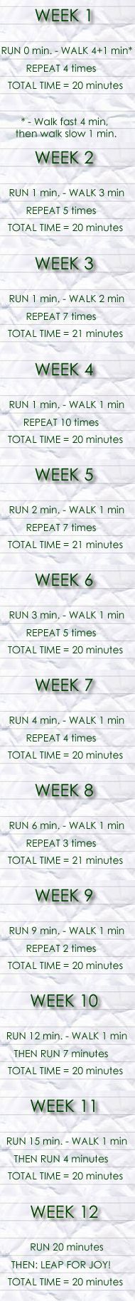 Beginner Running Training Program.  You know, to get you in to shape!