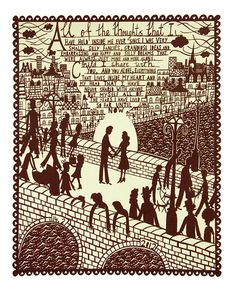 All Of The Thoughts Screenprint (Man/Woman) Rob Ryan