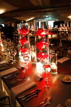 2010 | Gala  #floatingfloral #red roses #table decor @bestevents