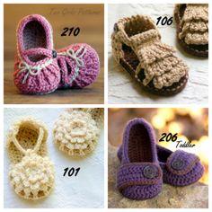 Baby shoe pattern.
