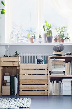 A crate storage idea.