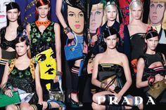 Collage femenino Prada