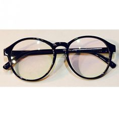 478685623 Vintage Dapper Round Clear Lens Glasses