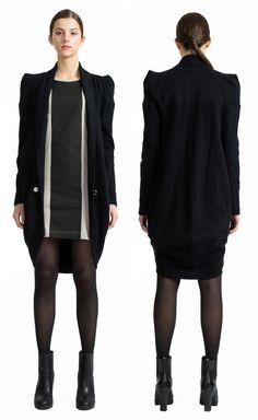 """<a href=""""http://www.format-favourites.de/cms/product/drop-cardigan""""><u>DROP</u> cardigan</a>, <a href=""""http://www.format-favourites.de/cms/product/plum-dress""""><u>PLUM</u> dress</a>"""