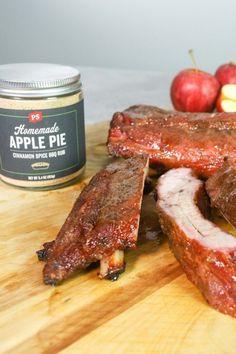 Apple Cinnamon Baby Back Ribs Rub Recipes, Smoker Recipes, Pork Recipes, Cinnamon Spice, Apple Cinnamon, Bbq Ribs, Pork Ribs, Smoked Ribs
