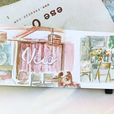 Carnet de voyage - Camille R. #watercolors #aquarelle #carnetdevoyage #sketchbook