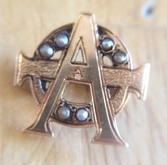 Alpha Phi Sorority pin from the 1870s by TheFraternityGuru on Etsy