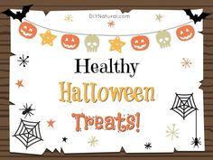 Typical Halloween candy is expensive, full of sugar, HFCS, preservatives, and worse. This list of healthy Halloween treats are a much better alternative! Healthy Halloween Treats, Halloween Candy, Happy Halloween, Happy Holidays, Real Food Recipes, Cool Kids, Alternative, Sugar, Event Ideas