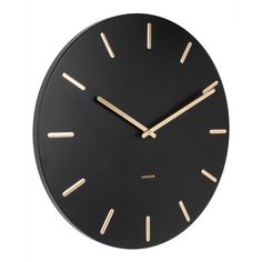 Karlsson Klokken klok Charm (Ø45 cm) | wehkamp Wall Clocks Uk, Wall Clock Design, Steel Wall, Decoration, Markers, Modern Design, Charms, Mirror, Shopping