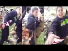 That attacked a dog on the Palestinian children! ..