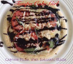 Caprese Pizza With Balsamic Glaze