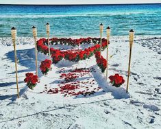 """Just love the red on white """"pop"""" these roses create. Come to the sandy white beaches of Charleston for your wedding. And let us handle your transportation! http://www.celimoline.com"""