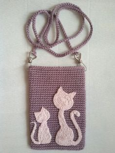 Ideas Crochet Cat Applique Pattern Etsy For 2019 Crochet Wallet, Free Crochet Bag, Crochet Baby Bonnet, Crochet Phone Cases, Crochet For Kids, Crochet Diy, Crochet Tutorial, Crochet Angel Pattern, Crochet Patterns