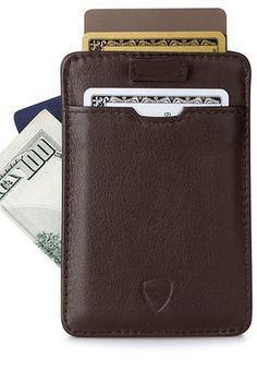 Chelsea Slim Card Sleeve Men's Wallet with RFID Protection by Vaultskin - Top Quality Italian Leather - Ultra Thin Card Holder Design For Up To 10 Cards (Black) Best Slim Wallet, Slim Leather Wallet, Best Presents For Men, Money Clip Card Holder, Rfid Wallet, Branded Wallets, Stuff To Buy, Chelsea, Italian Leather