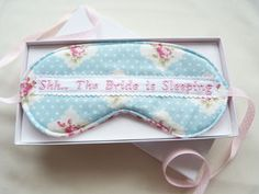 Shh… The Bride Is Sleeping Gift Boxed Eye Mask