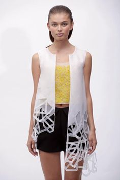 I love seeing how Architecture makes it into fashion woop woop to laser cutting!
