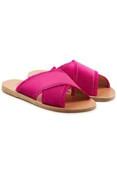 ANCIENT GREEK SANDALS - Thais Satin Sandals | STYLEBOP