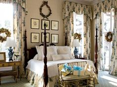 8 English Country Decor Bedroom - English Country Decor Bedroom Sigrist Abode occupies a sprawling four-care backbone overlooking lagoons, golf links and the English Cottage Style, English Country Decor, English Style, French Country, French Cottage, Cottage Farmhouse, Home Bedroom, Master Bedroom, Bedroom Decor